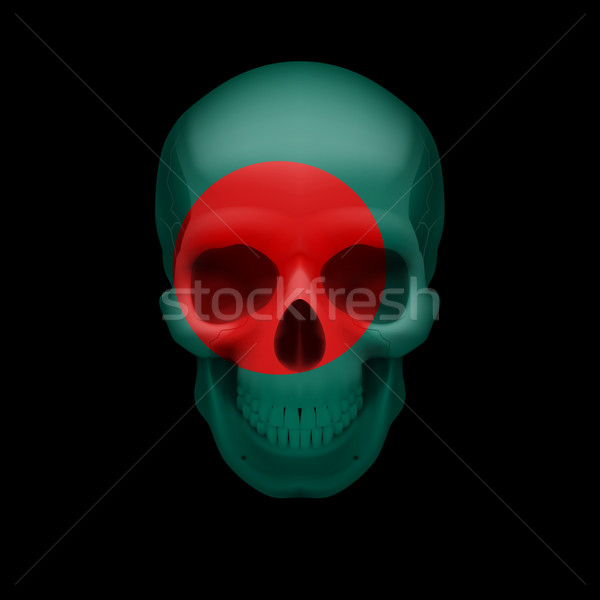 Bangladeshi flag skull Stock photo © dvarg