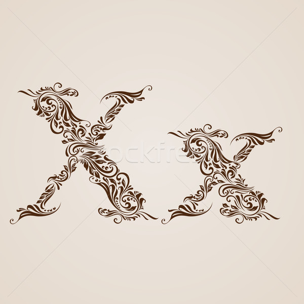 Decorated letter x Stock photo © dvarg