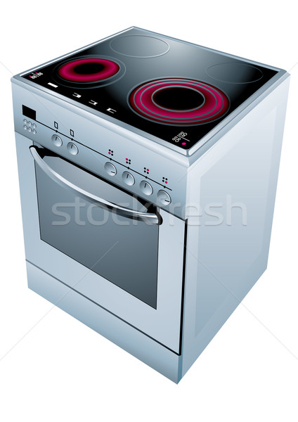 Stock photo: Cooker oven