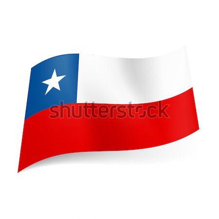 Zászló Chile fehér piros csíkok kék Stock fotó © dvarg