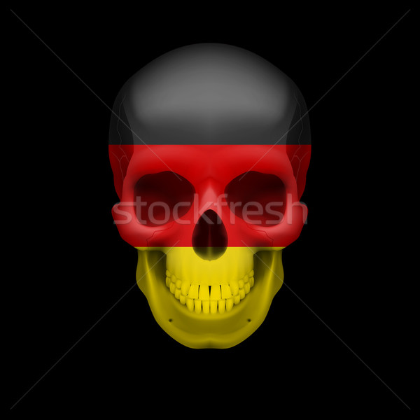 German flag skull Stock photo © dvarg