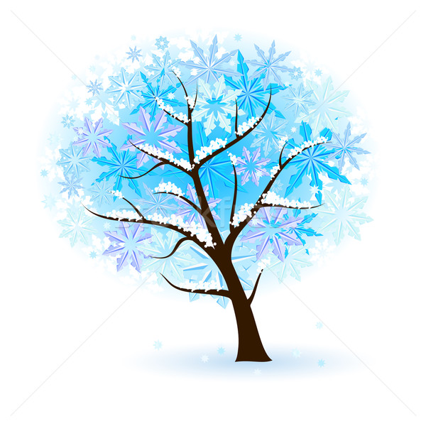 Stylized Winter Fruit Tree Stock photo © dvarg
