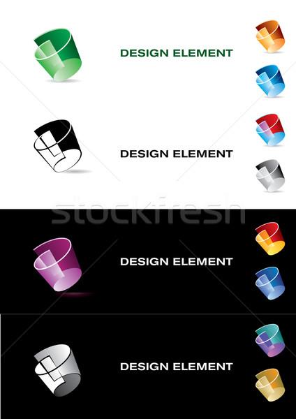 Grafisch ontwerp element kleur papier teken web Stockfoto © dvarg