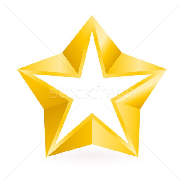 Stock photo: Shiny Gold Star