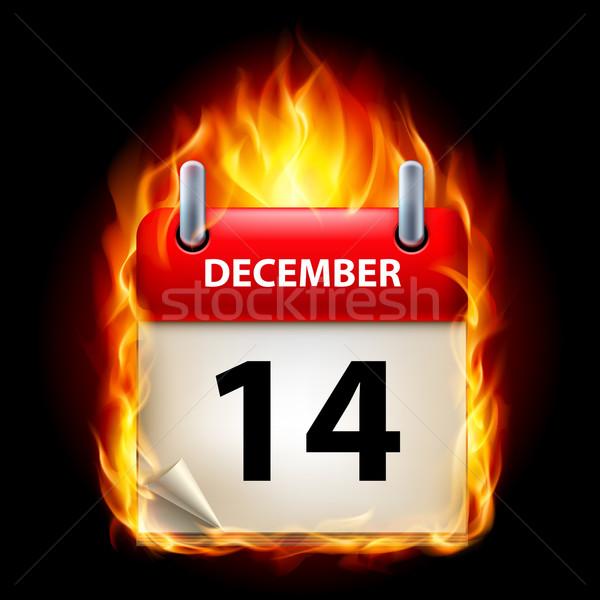 Burning calendar Stock photo © dvarg