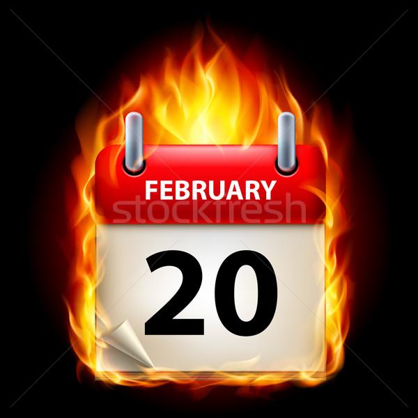 Stock photo: Burning calendar