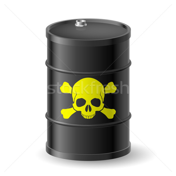 Barrel with poisonous substances Stock photo © dvarg