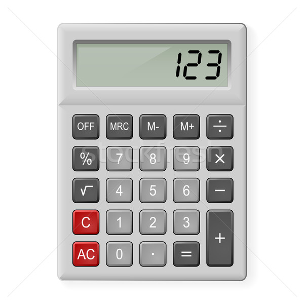 Stock photo: Gray Calculator