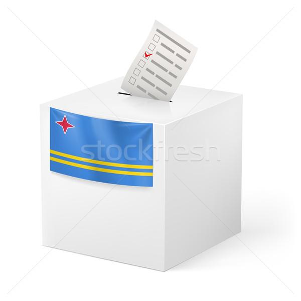 Cédula caixa votação papel eleição branco Foto stock © dvarg