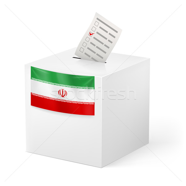 Ballot box with voting paper. Iran Stock photo © dvarg