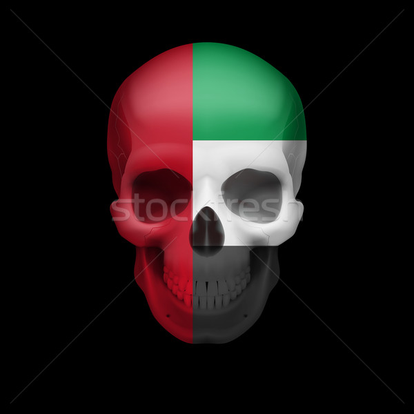 UAE flag skull Stock photo © dvarg