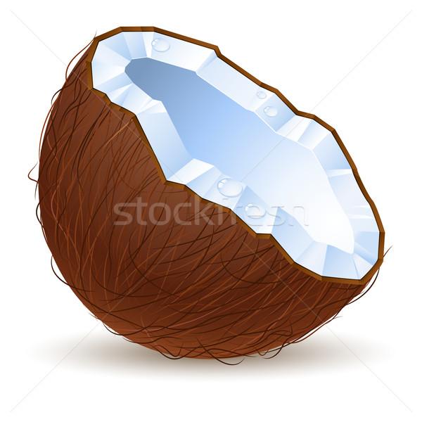 Half kokosnoot illustratie ontwerp witte computer Stockfoto © dvarg