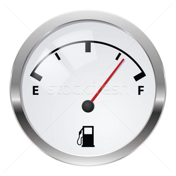 Combustível indicador ilustração branco projeto carro Foto stock © dvarg