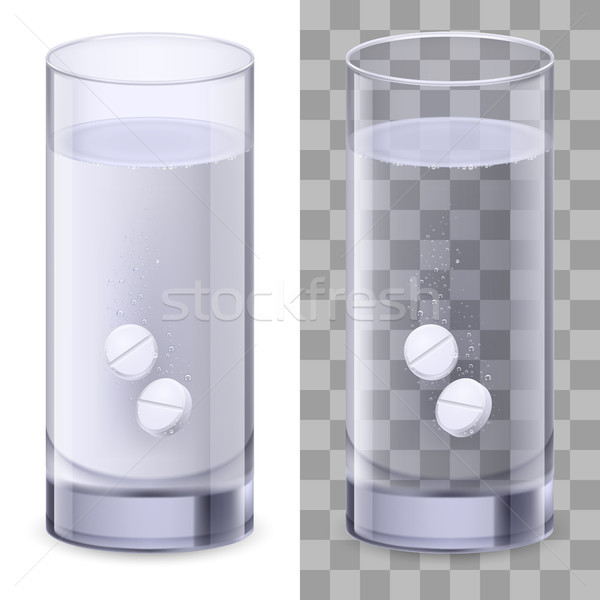 Glass of water and pills Stock photo © dvarg