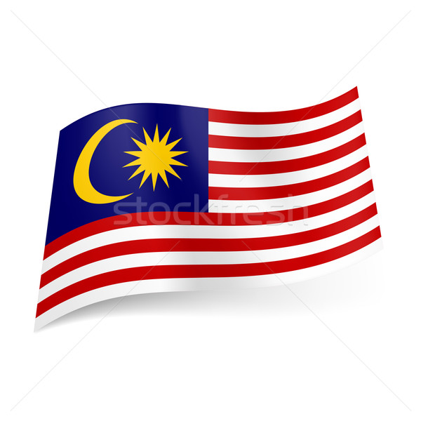 Bandeira Malásia vermelho branco horizontal Foto stock © dvarg
