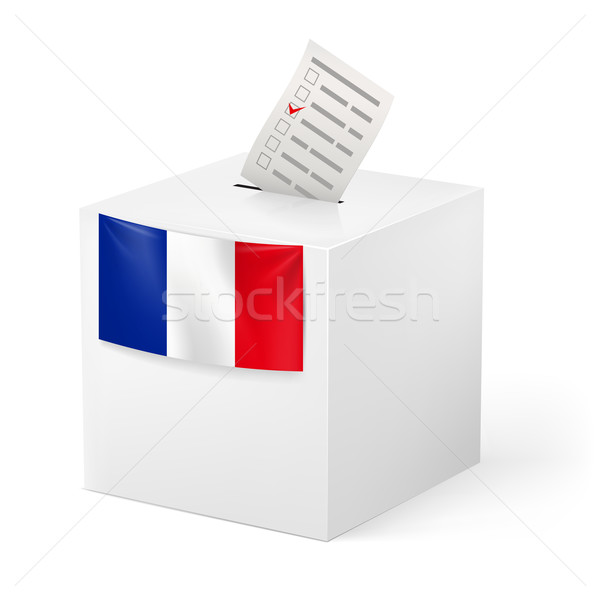 Ballot box with voicing paper. France. Stock photo © dvarg