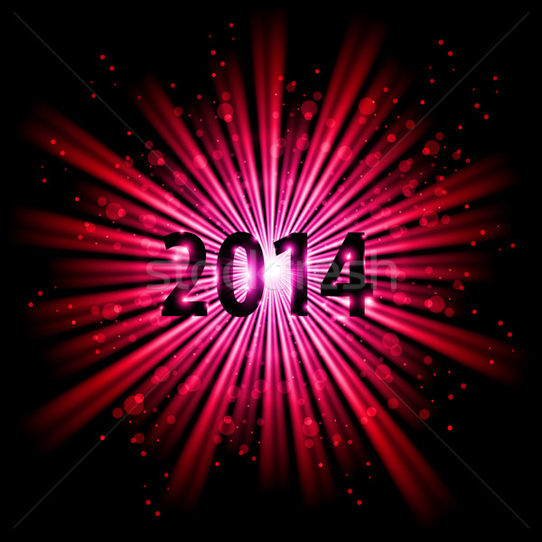 2014 in starlight. Stock photo © dvarg
