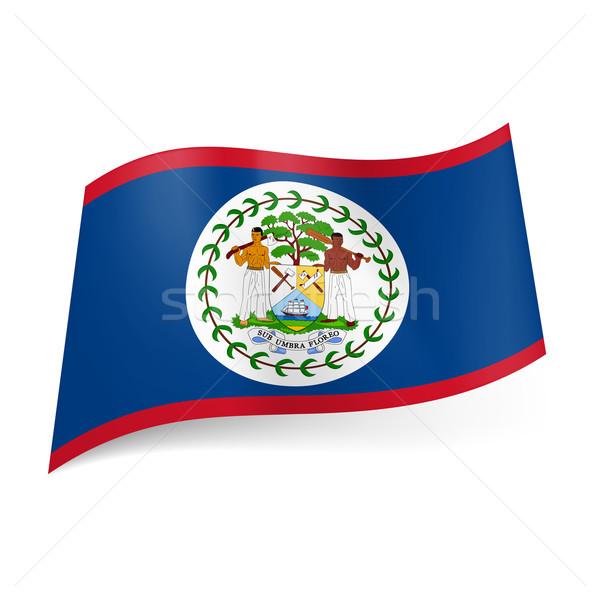 Foto d'archivio: Bandiera · Belize · blu · campo · rosso · abbassare