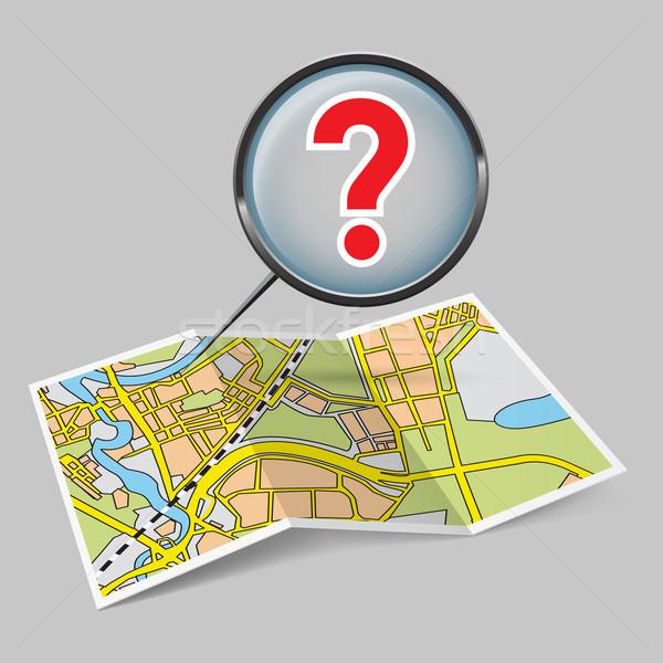 地図 小冊子 疑問符 実例 グレー 市 ストックフォト © dvarg