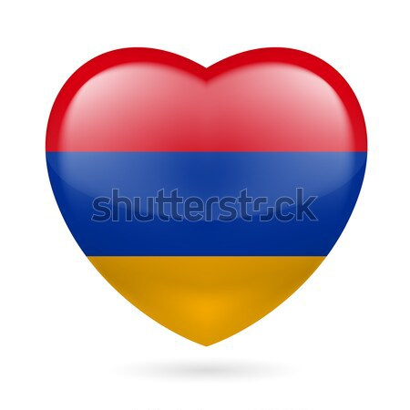 Heart icon of Colombia Stock photo © dvarg