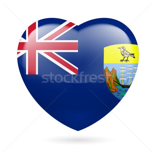 Heart icon of Saint Helena, Ascension and Tristan da Cunha Stock photo © dvarg