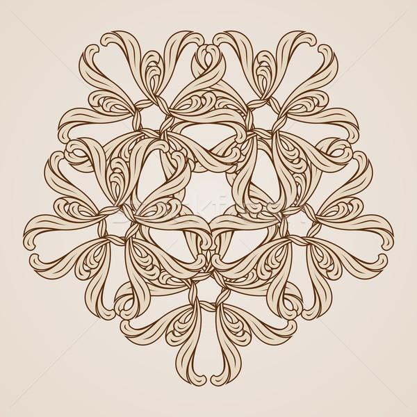 Kwiatowy wzór ilustracja świetle Zdjęcia stock © dvarg