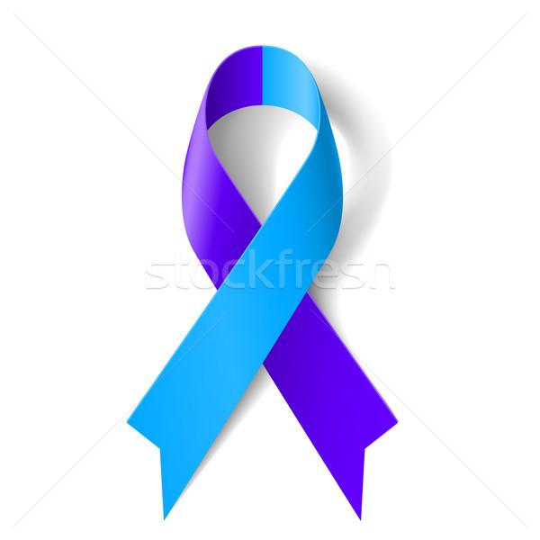 Blauw paars lint symbool textuur gezondheid Stockfoto © dvarg