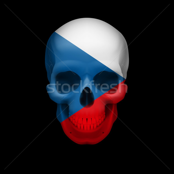 Czech flag skull Stock photo © dvarg