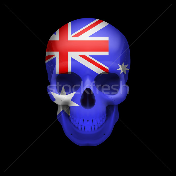 Australian flag skull Stock photo © dvarg