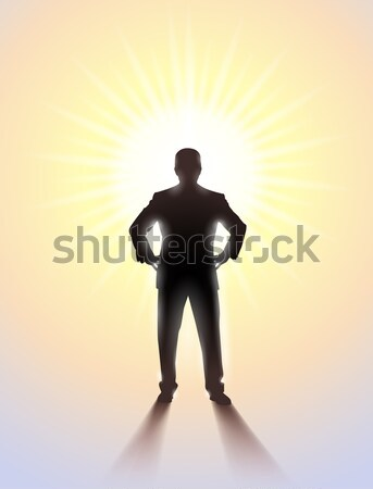 Man standing alone in the room Stock photo © dvarg