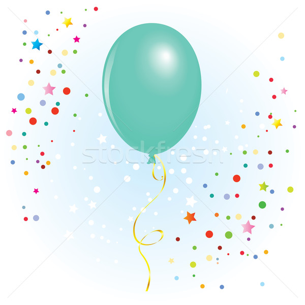 Balloon with dangling curly ribbon Stock photo © dvarg