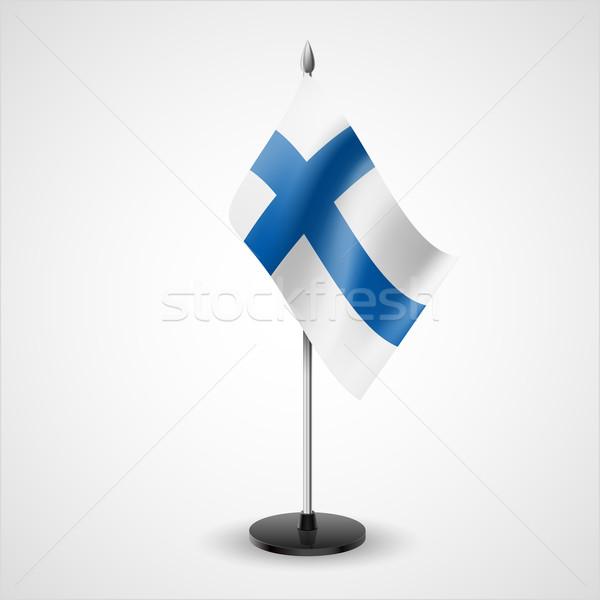 Asztal zászló Finnország világ konferencia asztal Stock fotó © dvarg