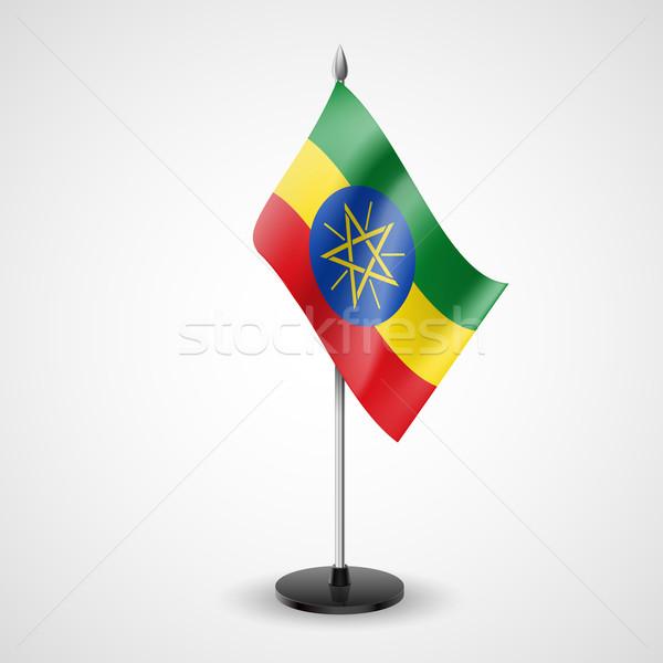 Tabeli banderą Etiopia świat konferencji biurko Zdjęcia stock © dvarg