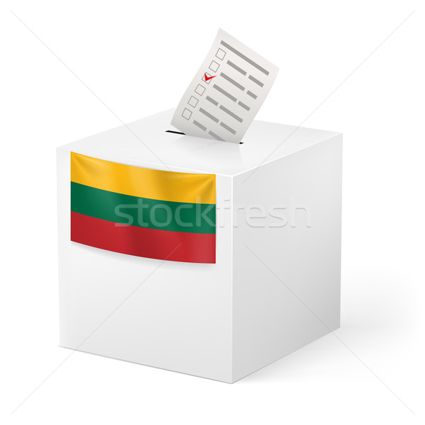 Ballot box with voting paper. Lithuania Stock photo © dvarg