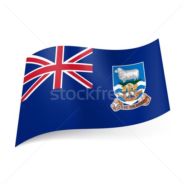 Zászló Falkland-szigetek brit terület brit zászló kék Stock fotó © dvarg