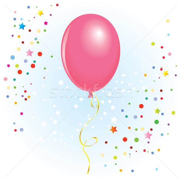 Ballon gekruld lint roze vector formaat Stockfoto © dvarg