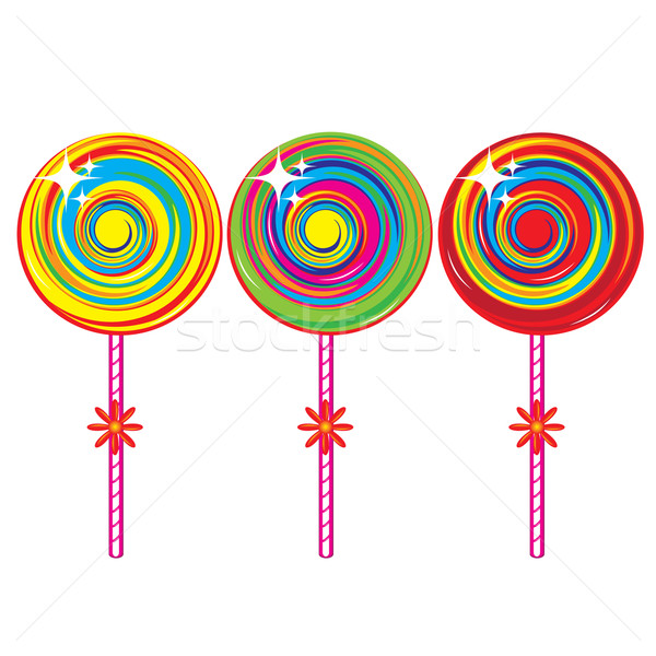 Set of colorful lollipops Stock photo © dvarg
