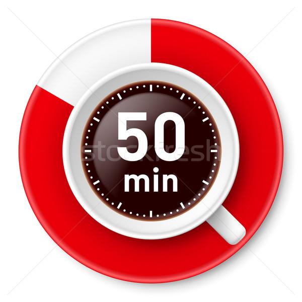 Koffiepauze beker koffie tijd pauze Stockfoto © dvarg