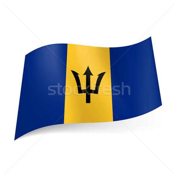 State flag of Barbados.  Stock photo © dvarg