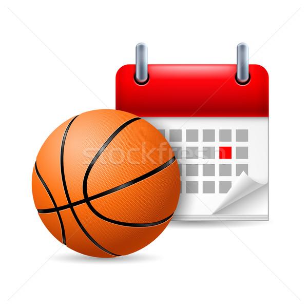 Basketball and calendar Stock photo © dvarg