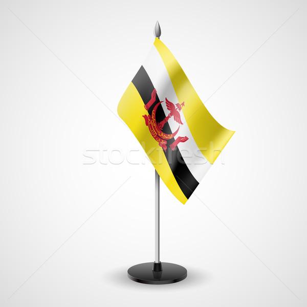 Tabel vlag Brunei wereld teken conferentie Stockfoto © dvarg