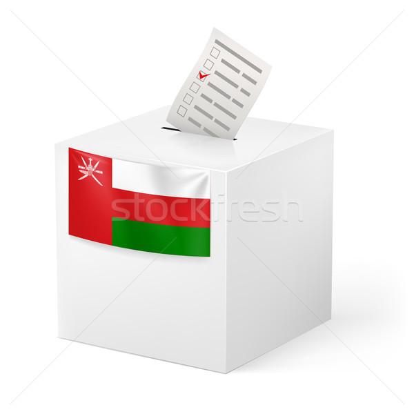 Szavazócédula doboz szavazás papír Omán választás Stock fotó © dvarg