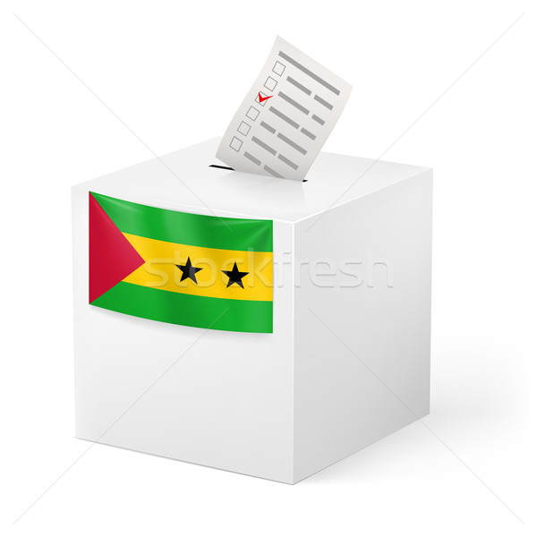Ballot box with voting paper. Sao Tome and Principe Stock photo © dvarg