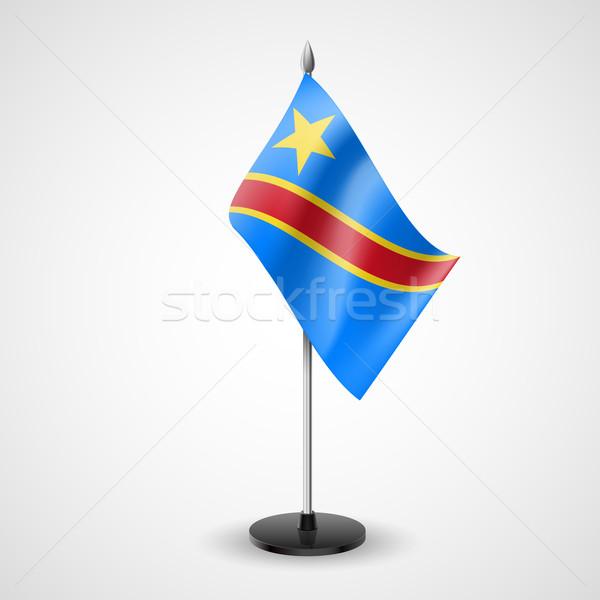 Table flag of Democratic Republic of the Congo Stock photo © dvarg
