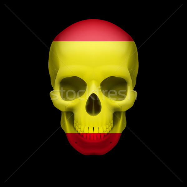 Spanish flag skull Stock photo © dvarg