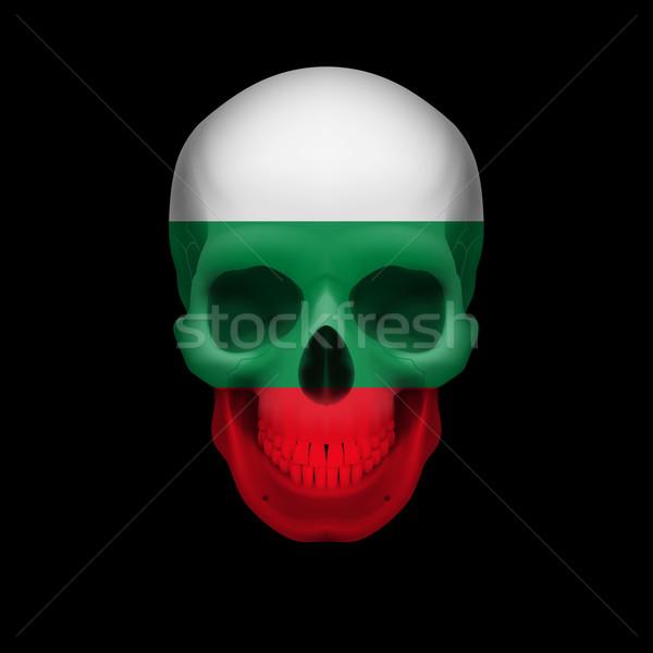 Bulgarian flag skull Stock photo © dvarg