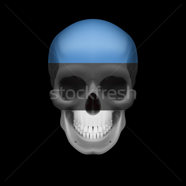 Estonian flag skull Stock photo © dvarg