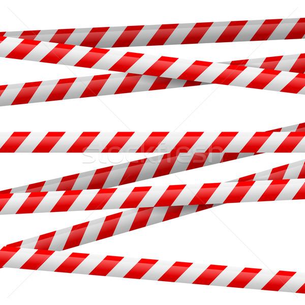 Red and white danger tape Stock photo © dvarg