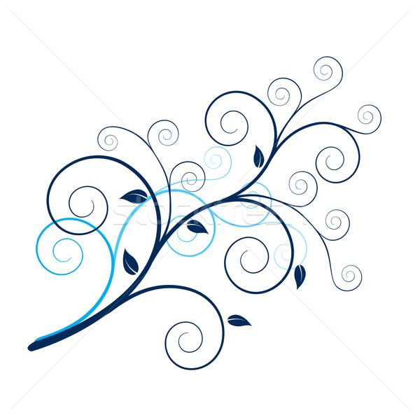 Dessin · design · usine · blanche · fleurs · main , illustration vectorielle © dvarg (877658)