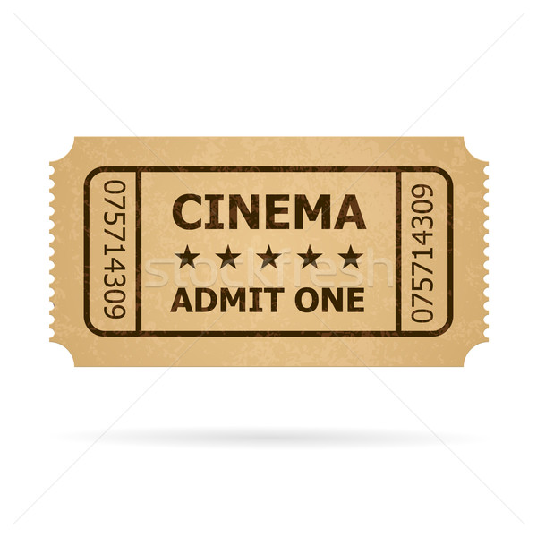 Retro cinema ticket Stock photo © dvarg
